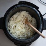 vegan french onion soup made in Crockpot pressure cooker